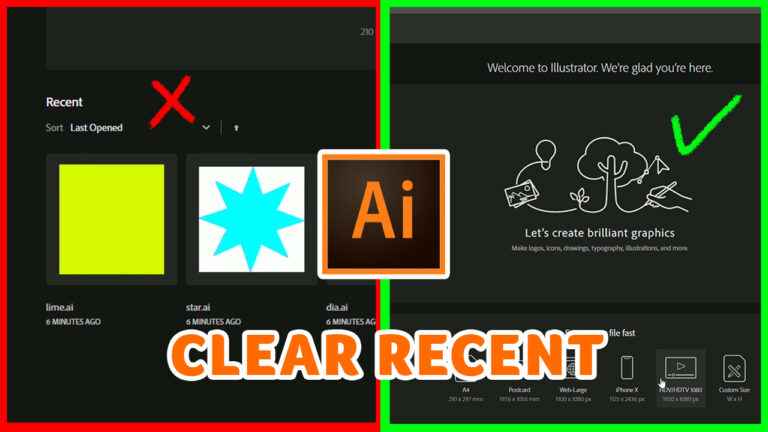 How to remove recent files in Illustrator CC