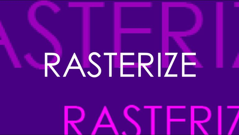 What Does Rasterize Mean In Adobe Illustrator? ANSWERED!