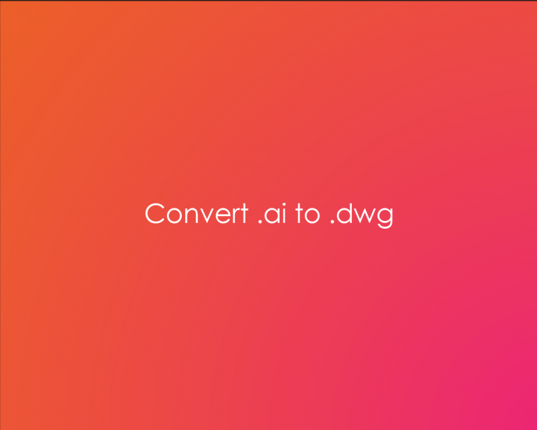 How to convert an Illustrator file to .dwg