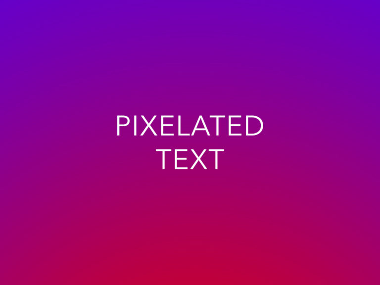Why Your Text Looks Pixelated in Photoshop