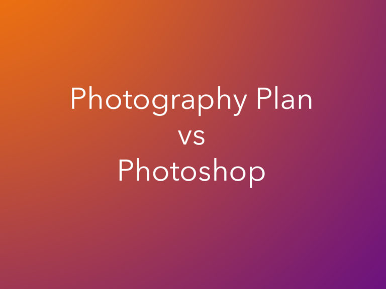 Why the Photography Plan Is Cheaper than Photoshop Only