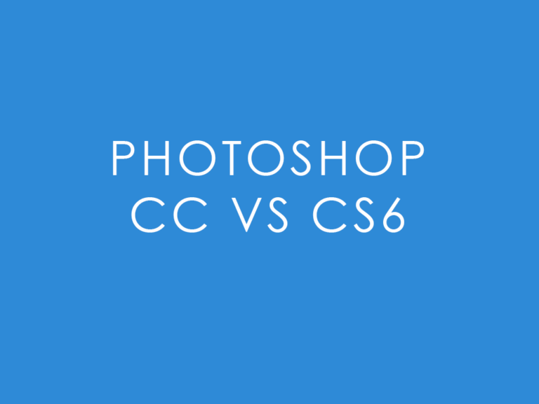 The Difference Between Photoshop and Photoshop CC
