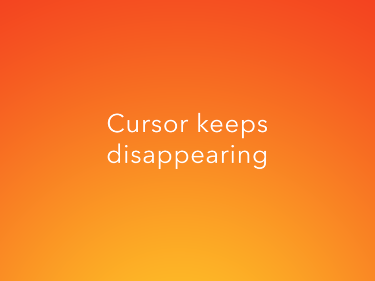 Cursor Keeps Disappearing in Photoshop- SOLVED!
