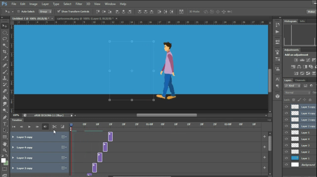 Photoshop can be used for animation and creating keyframes