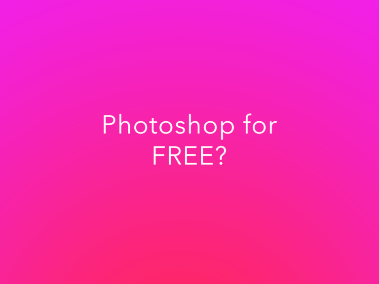 The Cheapest Way To Get Photoshop- Is There a FREE Option?